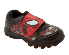 BOYS OFFICIAL MARVEL SPIDERMAN BLACK CASUAL TRAINERS SHOES KIDS UK SIZE 7-1
