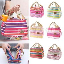 Canvas Outdoor Handbag Food Picnic Office School Lunch Bag Carry Tote Box Case