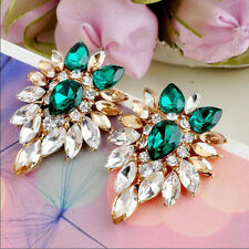 Ear Stud Earrings Jewelry Women Crystal Rhinestone Girls Elegant  New Lady