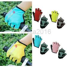 Unisex MTB Road Bike Bicycle Riding Cycling Reflective Short Fingerless Gloves