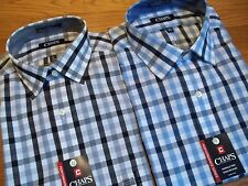 NWT $50. MSRP, Mens Chaps Classic Fit Wrinkle Free Cotton Blend Dress Shirt