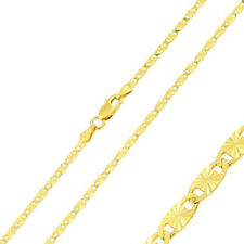 2.4mm 925 Sterling Silver Valz Chain Necklace / 14K Gold Plated made in italy