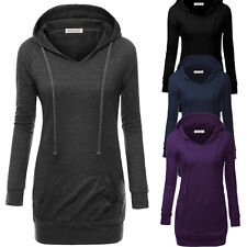New Women Raglan Long Sleeve Top Casual Pullover Jumper Tunic Hoodie Sweatshirt