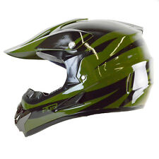 Youth PGR X25 NEWAGE GREEN Motocross Dirt Bike Off Road MX BMX DOT Helmet