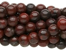 "16"" Strand Brecciated Jasper  Natural Round Gemstone Beads  *  4mm ,6mm or 8mm"