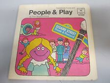 "Sesame Street book and record People & Play 7"" 45rpm vinyl record"