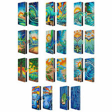 OFFICIAL DREW BROPHY SURF ART 2 LEATHER BOOK WALLET CASE COVER FOR SONY PHONES 1