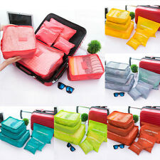 6Pcs Waterproof Clothes Storage Bags Packing Cube Travel Luggage Organizer Nice