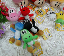 Cute Super Mario Yoshi Mushroom Star Plush Toy Key Chain Kids Gift Pocket Doll