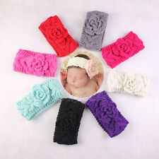 Baby Winter Ear Warmer Xmas Girls Crochet Knit Flower Hairband Headband Newly