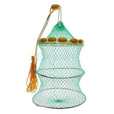 Foldable Fishing Keep Net Fishing Crab Fishs Lobster Crawdad Trap Net