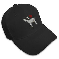 I LOVE HEART GOATS WESTERN Embroidery Embroidered Adjustable Hat Baseball Cap