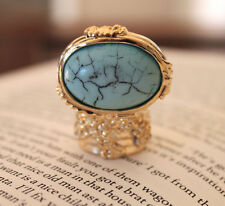 Celebrity Blogger Fashion Style Gold Chunky Arty Ring