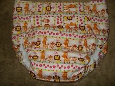 Dependeco All In One flannel adult baby diaper S/M/L/XL  (pink safari)