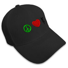 PEACE LOVE BOWLING SPORT Embroidery Embroidered Adjustable Hat Baseball Cap