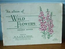 AN ALBUM OF WILD FLOWERS CIGARETTE CARDS W D & H O WILLS VINTAGE BOOK