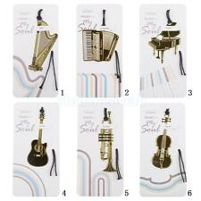 Golden Metal Musical Instrument Bookmark for Birthday Christmas Promotion Gift