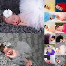 Baby Girls Newborn Headband Sweet Tutu Skirt Matching Hairband Photography Prop
