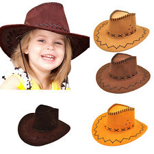 Halloween Style Western Cowgirl Cowboy Hat For Boys Gilrs Party Costumes Cap FT