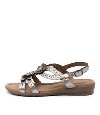 New Supersoft Fernley Pewter Bronze Womens Shoes Casual Sandals Sandals Flat