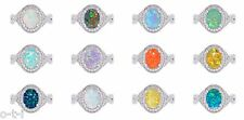 Oval Fire Opal Promise Infinity Celtic Birthstone Genuine Sterling Silver Ring