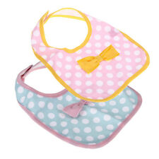 Kid Infant Toddler Child Baby Lunch Feeding Saliva Bib Dots Bow