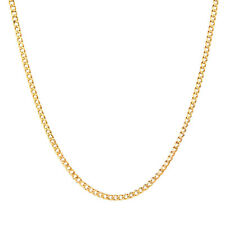 "MCS Jewelry 10 Karat Yellow Gold Curb Link Hollow Chain Necklace Length: 18""-24"""