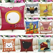 45cm Square Cotton Linen Throw Pillow Cases Cushion Covers Bed Art Style Decors