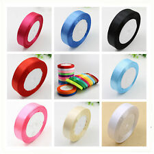 25yds Multi-color Craft Satin Ribbon Wedding Home Party Gift packing Decoration