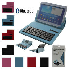 "Removable Leather Universal Bluetooth Keyboard Folio Cover Case For 7"" Tablets"