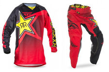 NEW 2017 FLY RACING KINETIC ROCKSTAR GEAR COMBO ROCKSTAR RED ALL SIZES