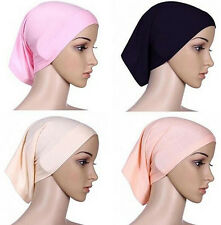 Muslim Headwrap Head Scarf Women Cover Underscarf Hijab Cotton Bonnet Islamic