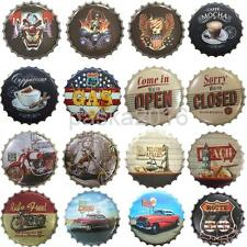 Round 40cm Bottle Cap Retro Metal Tin Sign Plaque Retro Picture Bar Pub Man Cave