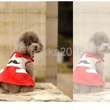 Moustache Pattern Dog Puppy Dresses Skirt Pet Fancy Costume Clothes Size XXS - L