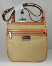 Lauren Ralph Lauren Lauren Nylon/Leather Trim Skinny Crossbody Bag New with Tag