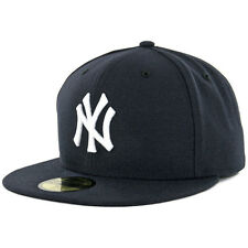 New York YANKEES GAME Dark Navy New Era 59FIFTY Fitted Caps MLB AC On Field Hats