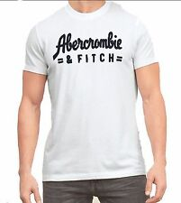 Nwt Abercrombie By Hollister & Fitch Men's Muscle Fit Tee T Shirt White