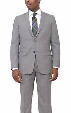 Hart Schaffner Marx Classic Fit Light Brown Textured Wool Suit Made In Usa