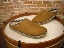 Men's Deer Stags Brown Microsuede Wherever Slipper Scuff NEW