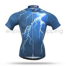 Cool Flashing Light Cycling Team Jersey Road MTB Bike Shirt Bicycle Clothing