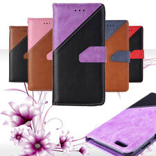 2016 New Card Holder Leather Stand Magnetic Plain Wallets Cases For Apple iPhone