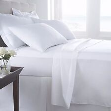 Hypoallergenic 100% Egyptian Cotton Flat Sheet Solid 400 Thread Count