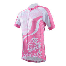 Pink Womens Cycling Biking Short Jersey Bicycle Wear Bike T-Shirts / Top 2016