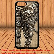 Mechanical Elephant Steampunk Vtg Graphic Hard Case Cover for iPhone & Samsung