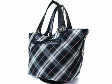 Auth BURBERRY LONDON BLUE LABEL Black Canvas, Leather Reversible Tote Bag