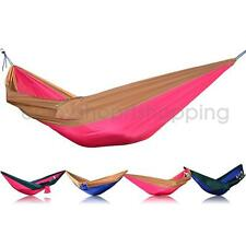 Outdoor Camping Travel Double Hammock Tree 2 Person Parachute Patio Bed Swing