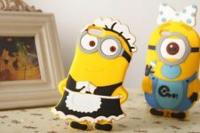 I LOVE MINION 3D COLLECTION Silicone Back Cover Skin Case for iPhone models