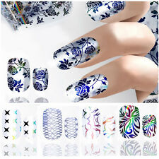 Beauty Nail Art Stickers Water Decals Nail Transfers Wrap Flower Floral Leopard