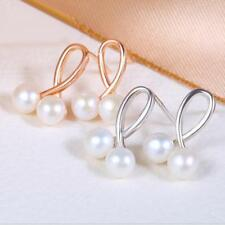 Stunning Natural Freshwater Pearl Earrings with 925 Sterling Silver Stud Earring