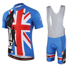 UK Bike Team Racing Cycling Jersey/Pro Cycling Clothing/mtb Bicycle Bib Shorts